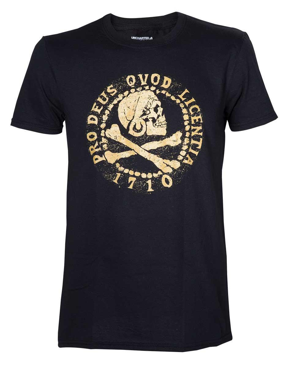 UNCHARTED 4 - T-Shirt Pro Deus Qvod Licentia (L)