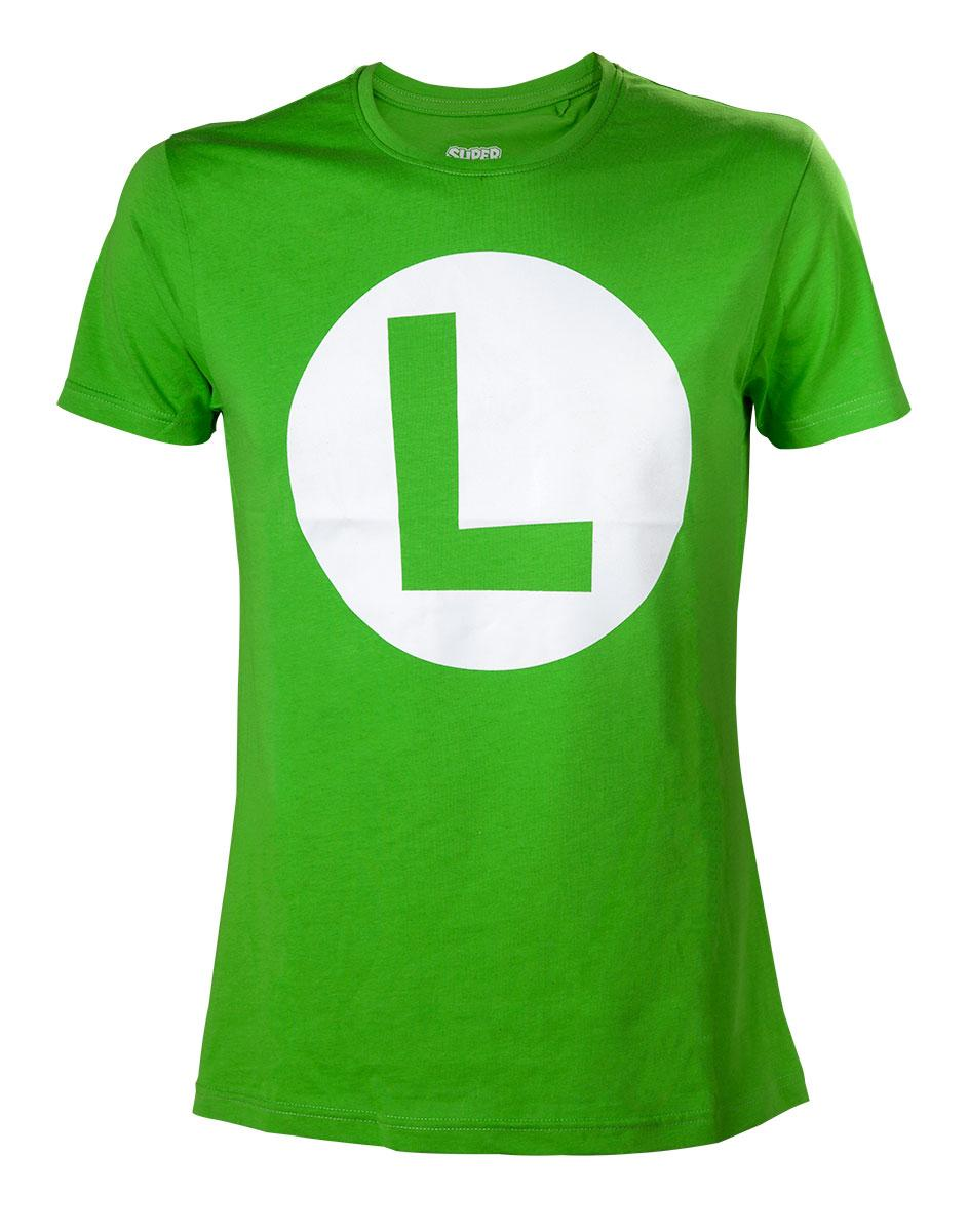 NINTENDO - T-Shirt Luigi Logo - Green (L)