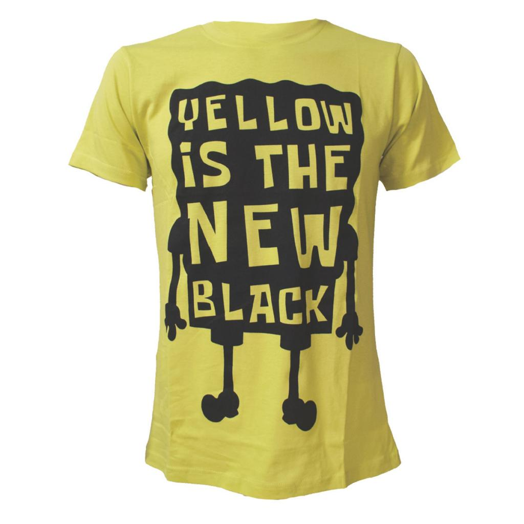 SPONGEBOB - T-Shirt  Yellow is the new black (L)