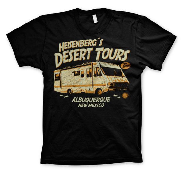 BREAKING BAD - T-Shirt Heisenberg's Desert Tours - Black (L)