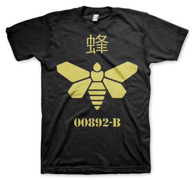 BREAKING BAD - T-Shirt Methlamine Barrel Bee - Black (L)