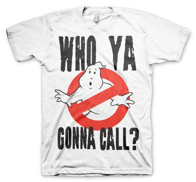 GHOSTBUSTERS - T-Shirt Who Ya Gonna Call ? - White (L)