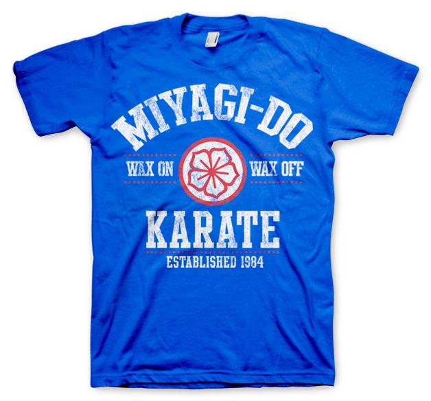 KARATE KID - T-Shirt Miyagi-Do Karate 1984 - Blue (L)