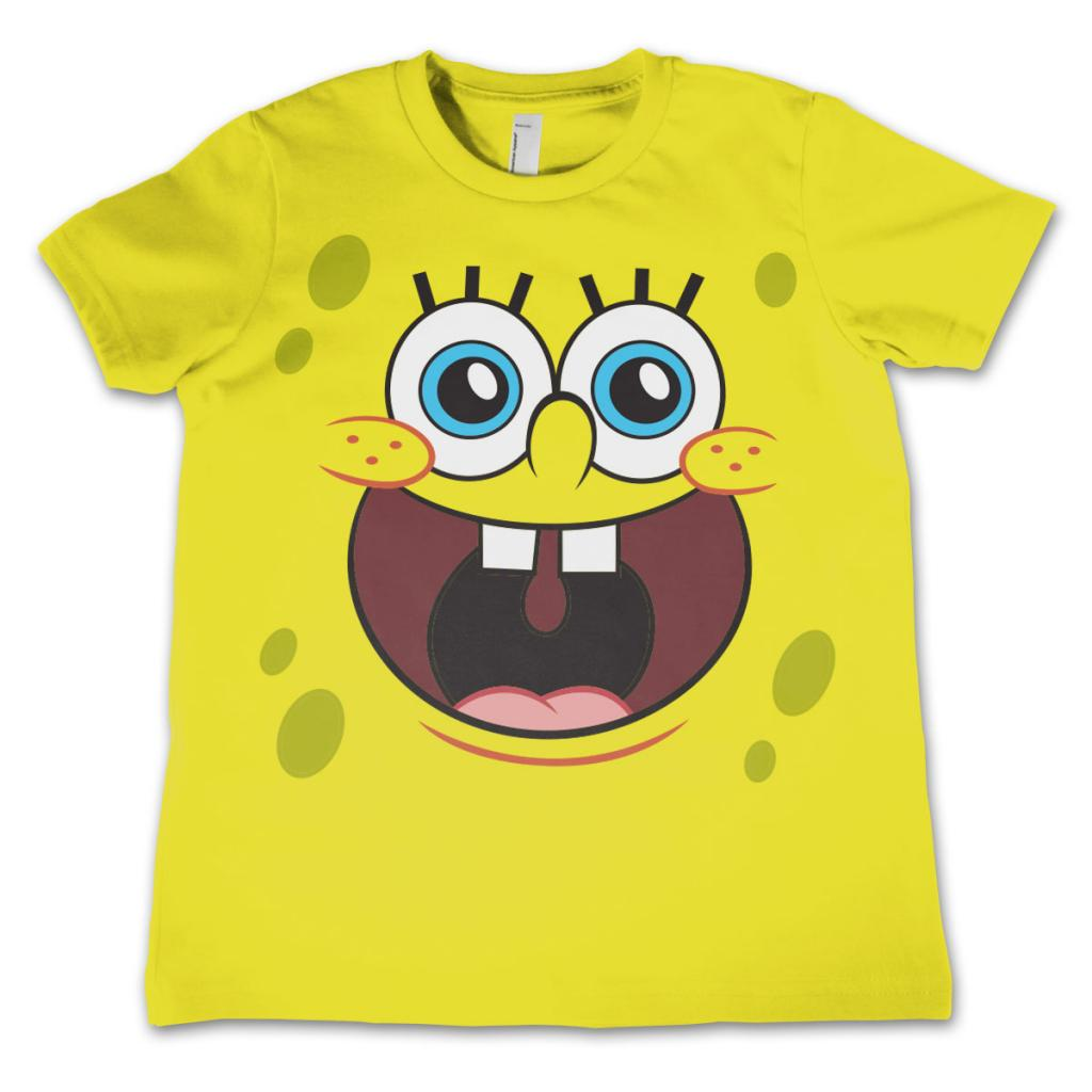 SPONGEBOB - T-Shirt KIDS Happy Face Yellow (10 Years)
