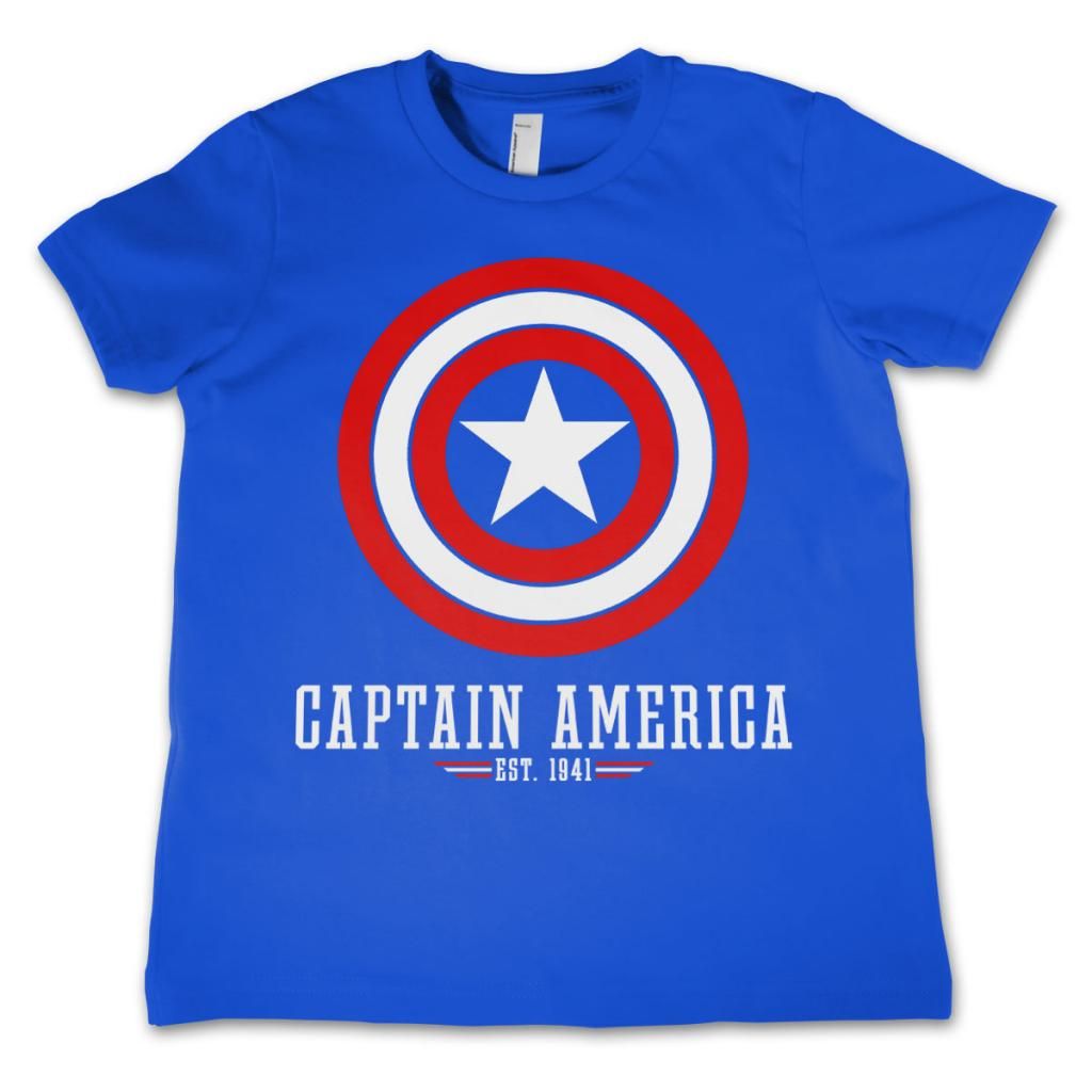 CAPTAIN AMERICA - T-Shirt KIDS Logo Blue (12 Years)