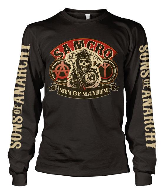 SONS OF ANARCHY - T-Shirt Long Sleeve Samcro Men of Mayhem (L)