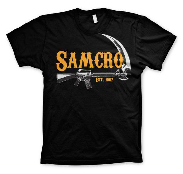 SONS OF ANARCHY - T-Shirt Samcro Est. 1967 - Black (S)