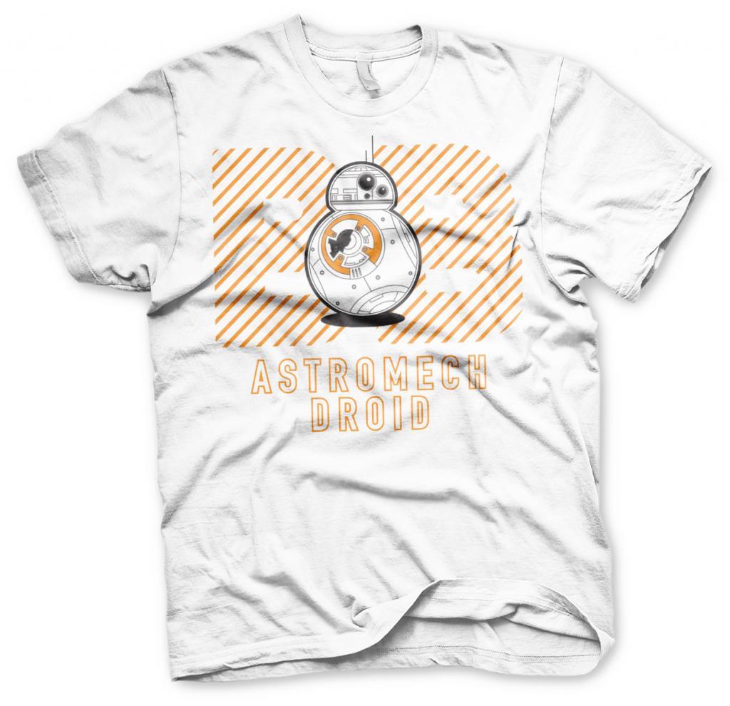 STAR WARS 7 - T-Shirt Astromech Droid White (L)