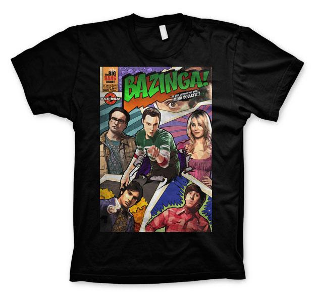 THE BIG BANG - T-Shirt BAZINGA Comic Cover - Black (L)