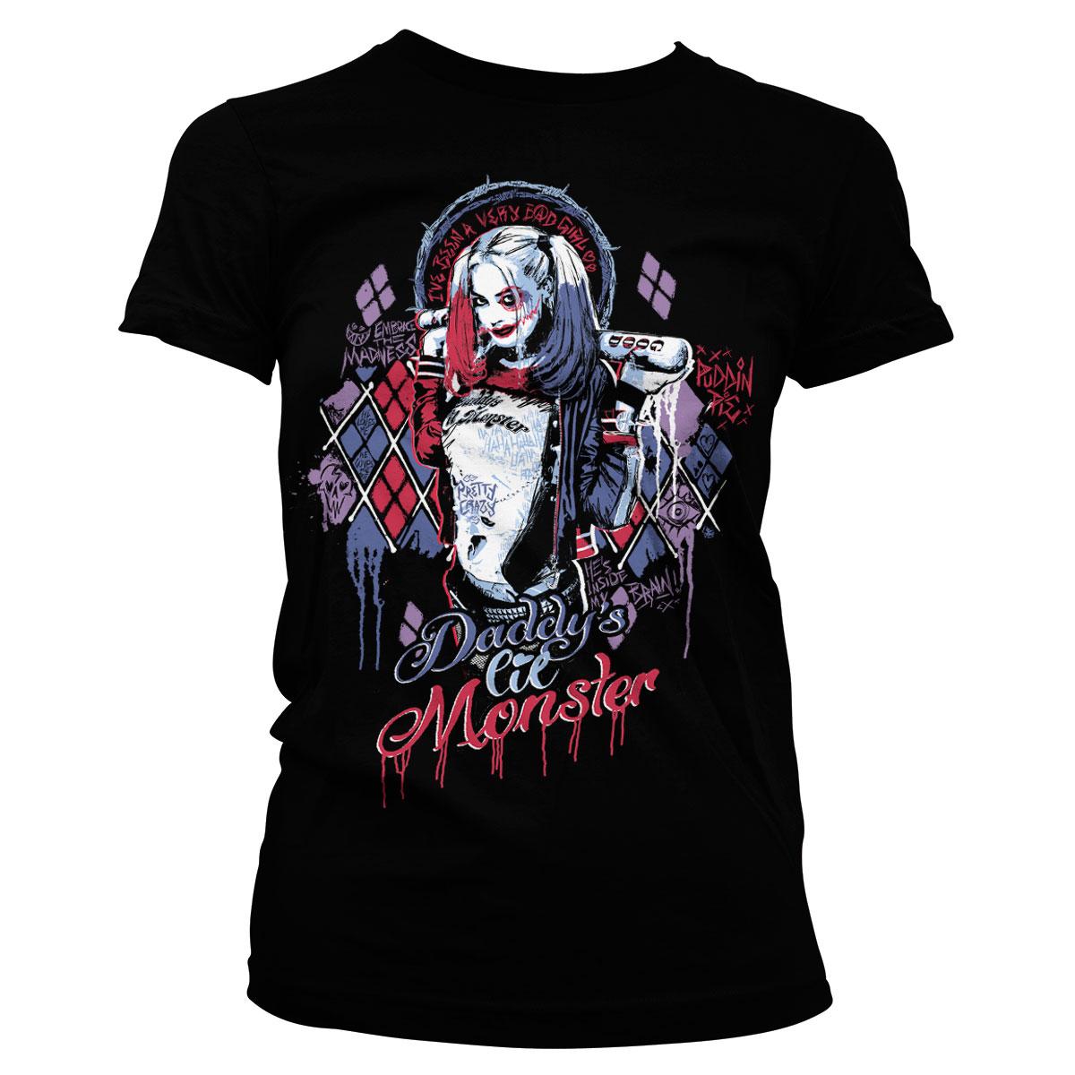 Le Suicide Squad harly Quinn Rétro Cool T Shirt Officiel Cadeau Cartoon Folie
