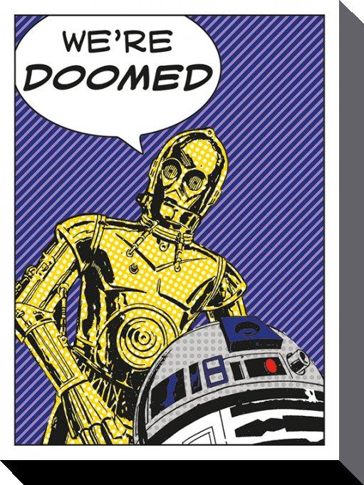 STAR WARS - Canvas 60X80 '18mm' - We're Doomed