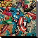 MARVEL COMICS - Canvas 40X40 '38mm' - Captain America Squares