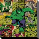 MARVEL COMICS - Canvas 40X40 '38mm' - Hulk Squares