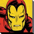 MARVEL COMICS - Canvas 40X40 '38mm' - IRON MAN Close-Up