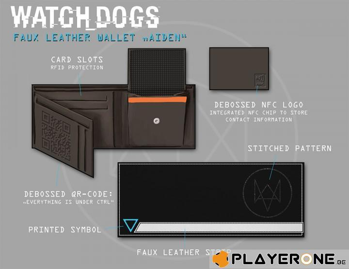 WATCH DOGS - Faux Leather Wallet Aiden