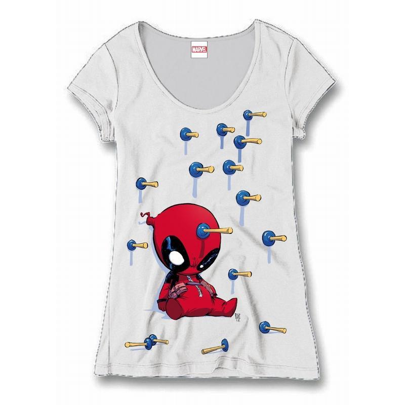 DEADPOOL - MARVEL T-Shirt Baby Arrows - GIRL (XL)