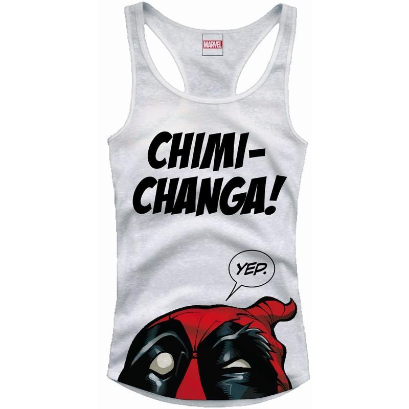 DEADPOOL - MARVEL T-Shirt Tank Top Chimichanga - GIRL (S)