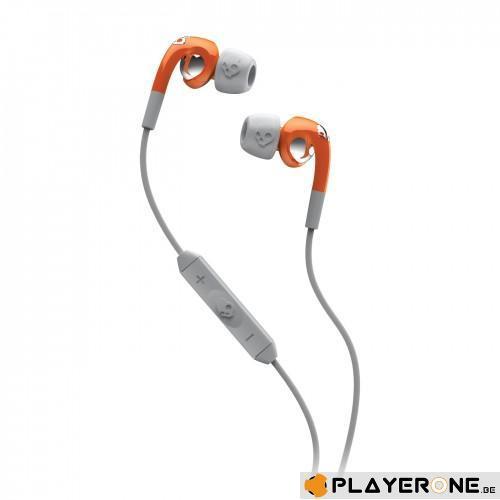 SKULLCANDY - FIX IN EAR Orange/Grey( With Mic + Shuffle Control )