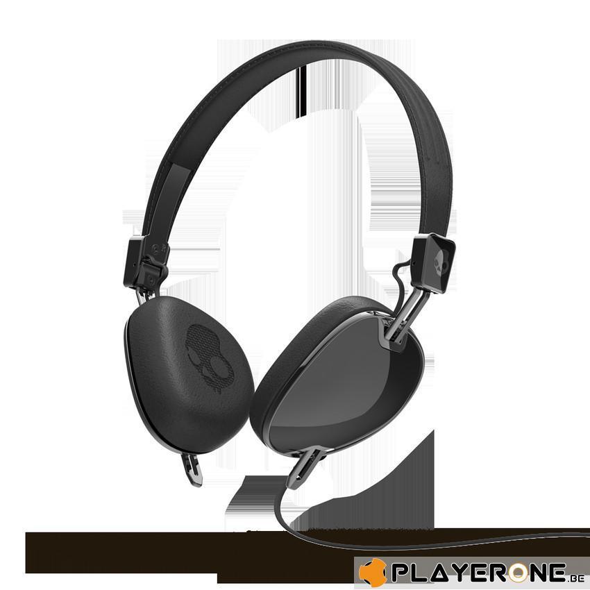 SKULLCANDY - NAVIGATOR Black/Black ( With Mic + Shuffle Control )