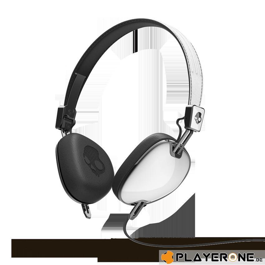 SKULLCANDY - NAVIGATOR White/Black ( With Mic + Shuffle Control )