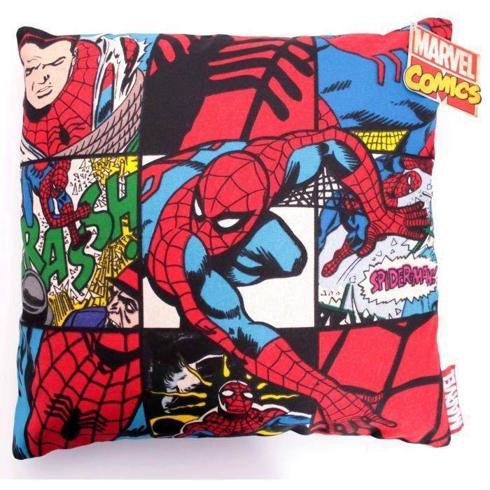 MARVEL  - Housse pour Coussin Spider-Man Vintage Officiel (40 x 40)