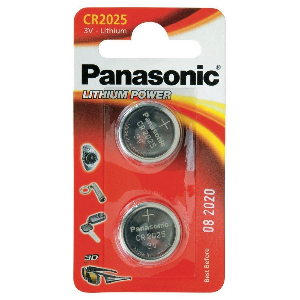 PANASONIC - Piles Lithium Coin - CR2025 X 2