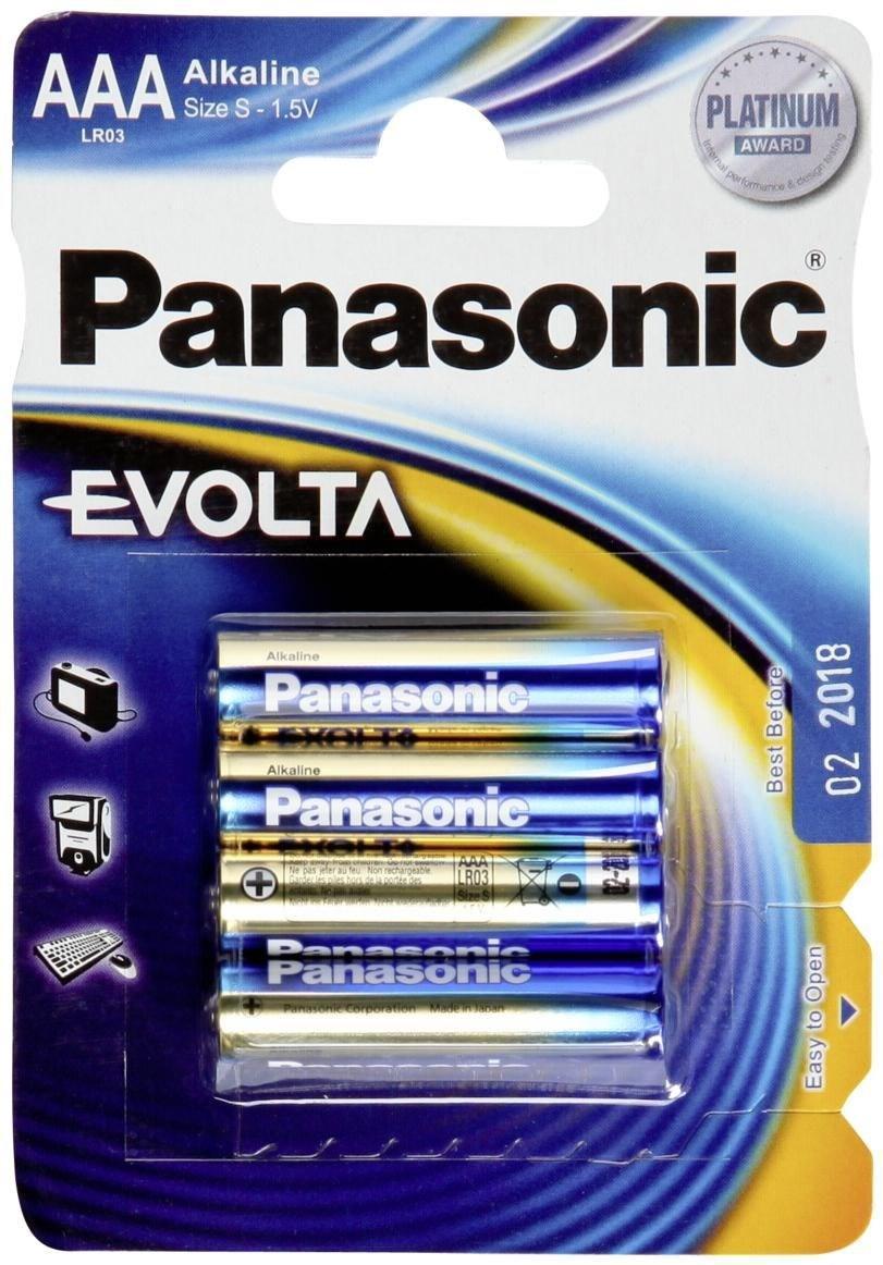 PANASONIC - Piles Alcaline Evolta AAA-LR03 X 4