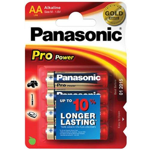PANASONIC - Piles Alcaline Pro Power AA-LR06 X 4