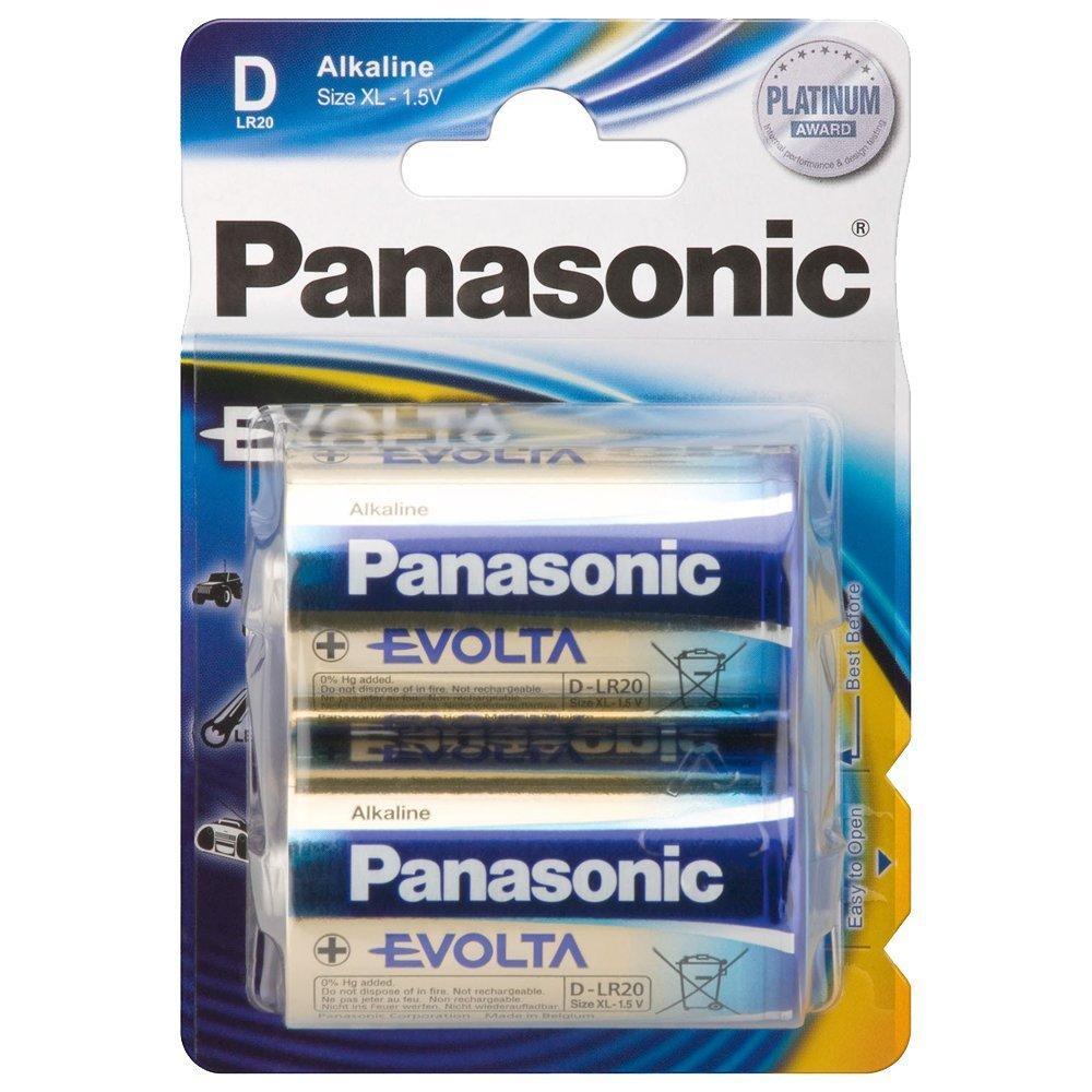 PANASONIC - Piles Alcaline Evolta D-LR20 X 2