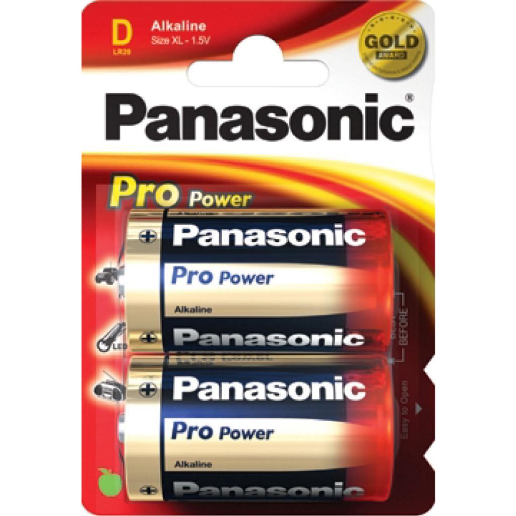 PANASONIC - Piles Alcaline Pro Power D-LR20 X 2