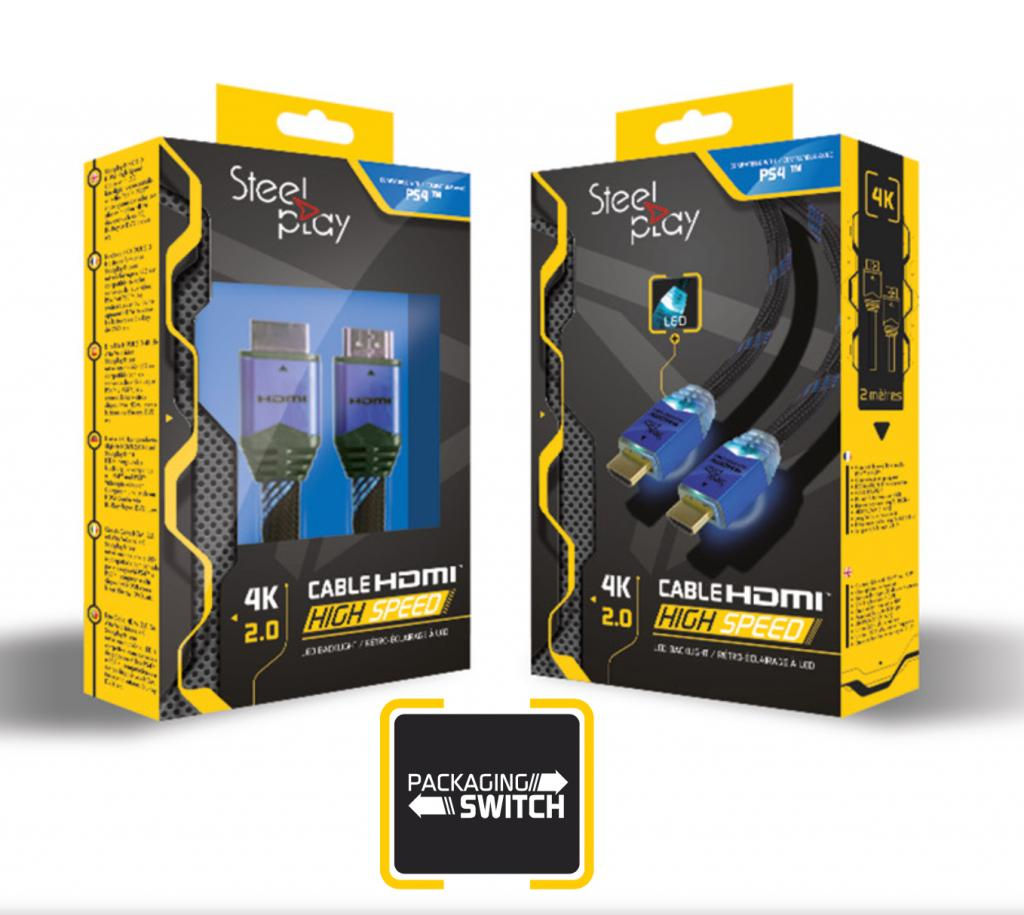 STEELPLAY - 4K 2.0 HDMI High Speed Cable PS4 - PS3