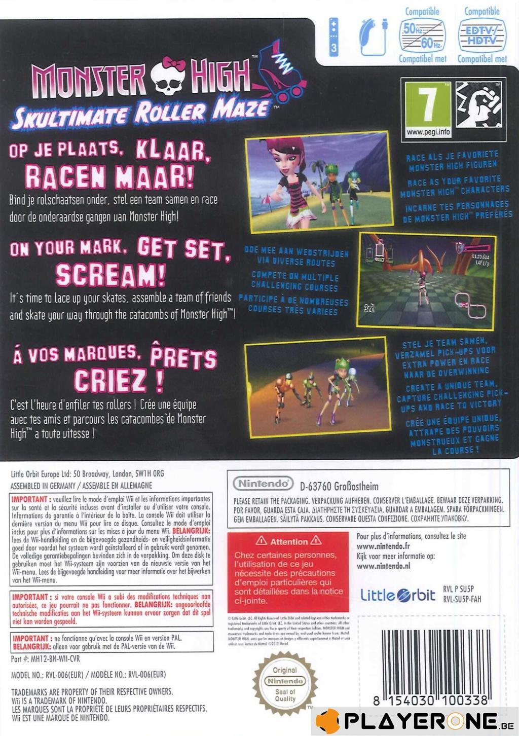 Monster High : Course de Rollers Incroyablemenbt Monstrueuse_2