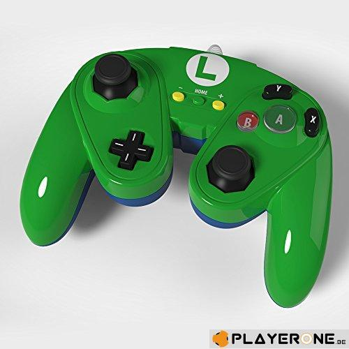 PDP - Nintendo Wired Fight Pad WII U Official GC controller Luigi_1