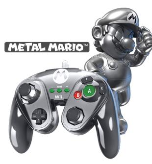 PDP - Nintendo Wired Fight Pad WII U Official GC controller MarioMetal_1