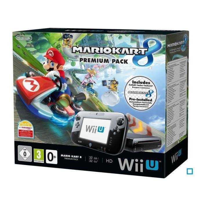 Console Wii U Premium Pack MARIO KART 8 (pre-installed game)_1