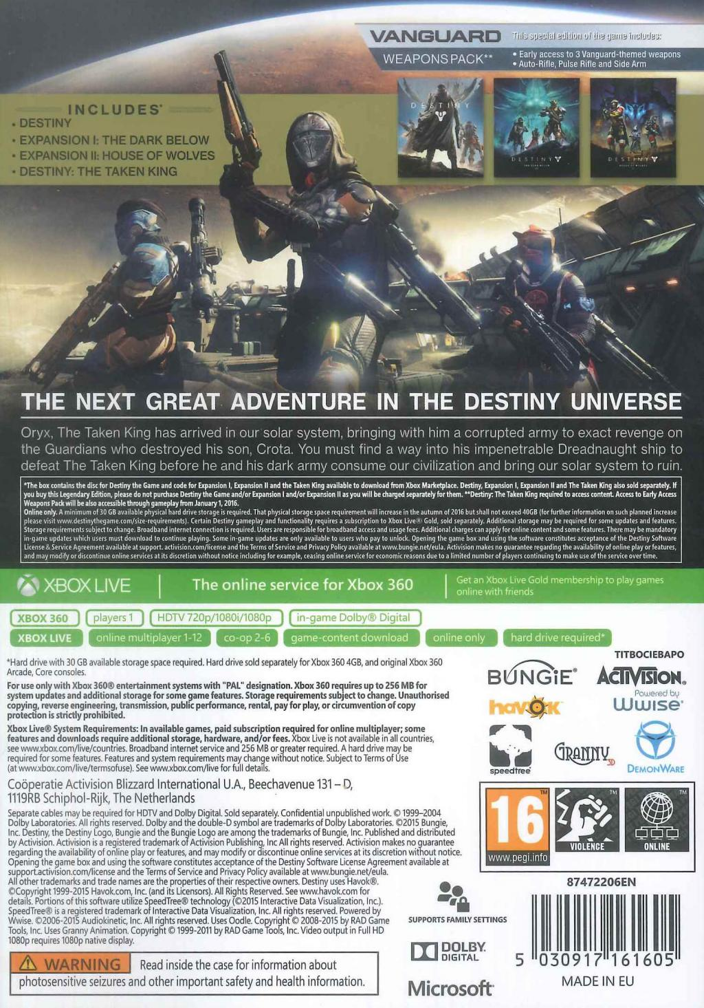 Destiny : The Taken King Legendary Edition_2