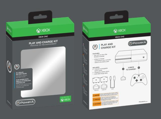 POWER A - Play & Charge Kit XBONE - 2 Batteries -Off Licensed Product
