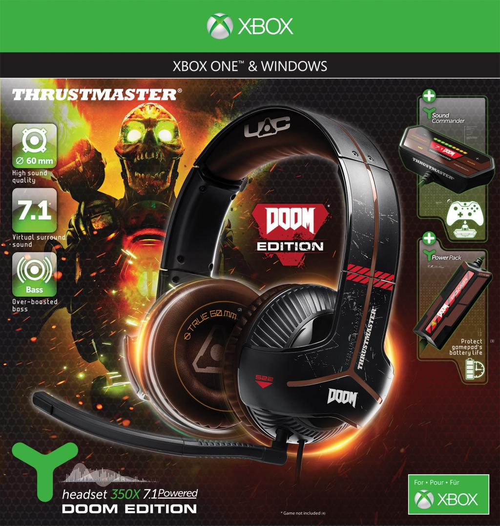 Gaming Headset Y-350X 7.1 Powered DOOM Edition XBONE/PC Thrustmaster_1