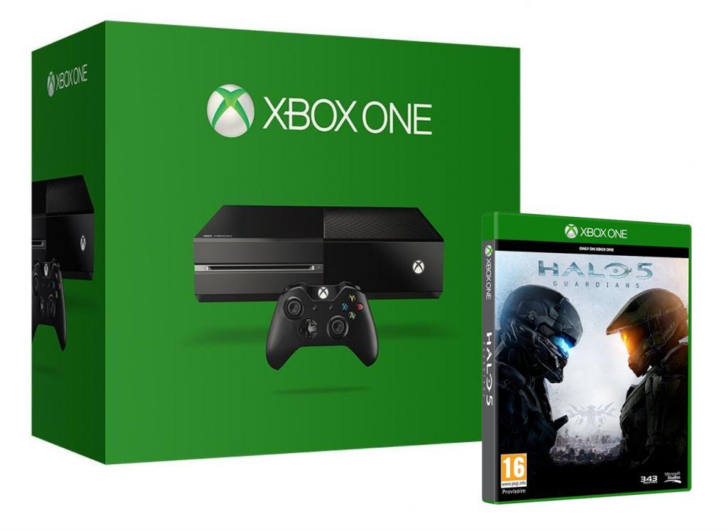 Console Xbox One 500 Gb Black + Halo 5 (3340+9591)