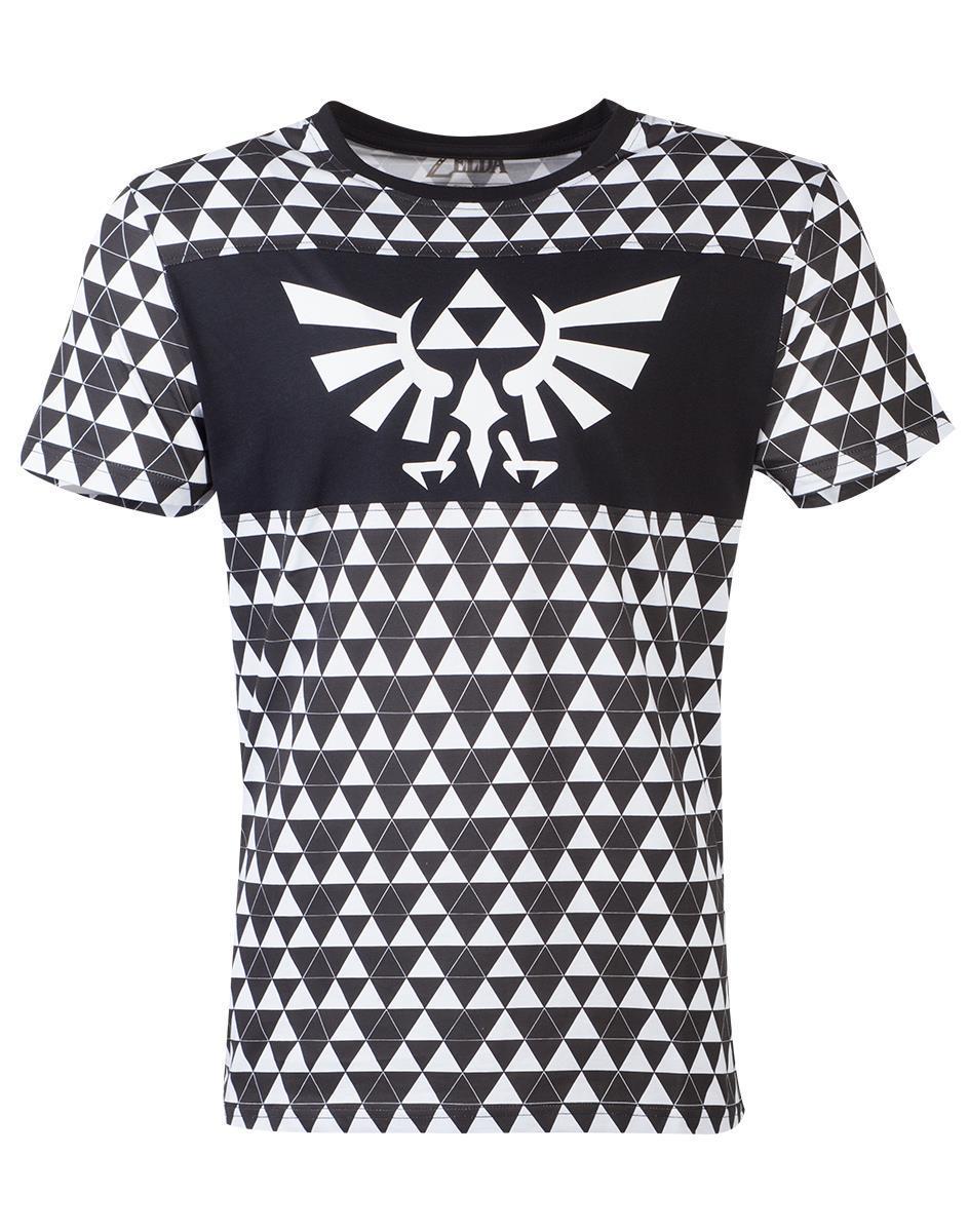 ZELDA - T-Shirt Homme - Triforce Checker (M)