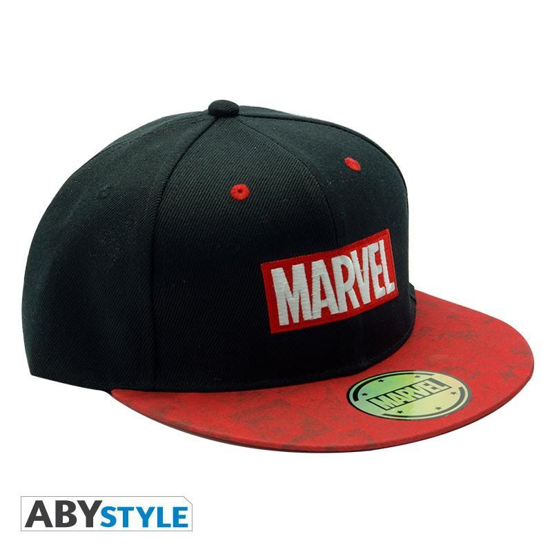 MARVEL - Casquette snapback - Noir & Rouge - Logo