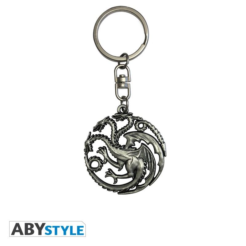 GAME OF THRONES - Porte-Cles Metal 3D - Targaryen