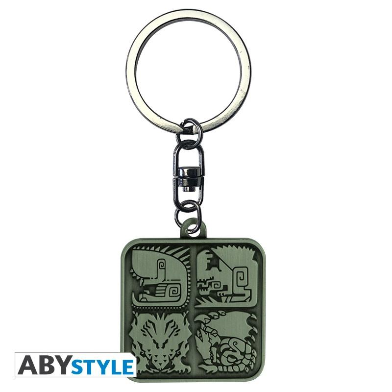 MONSTER HUNTER - Porte-Cles Metal - Symboles
