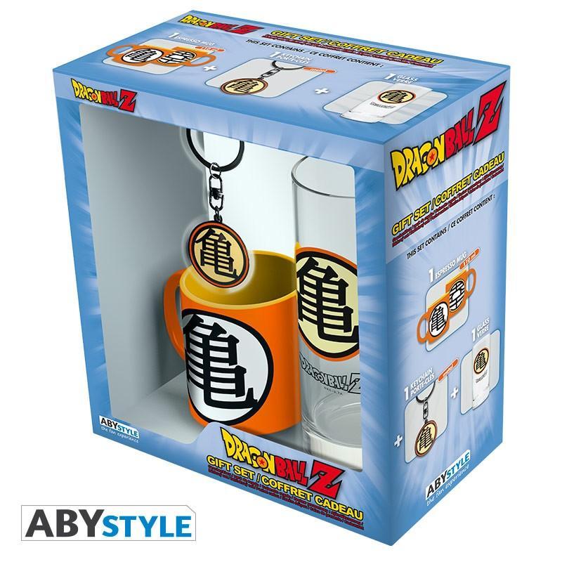 DARGON BALL - Coffret (Verre + Porte Cles + Mini Mug) - Kame Symbol