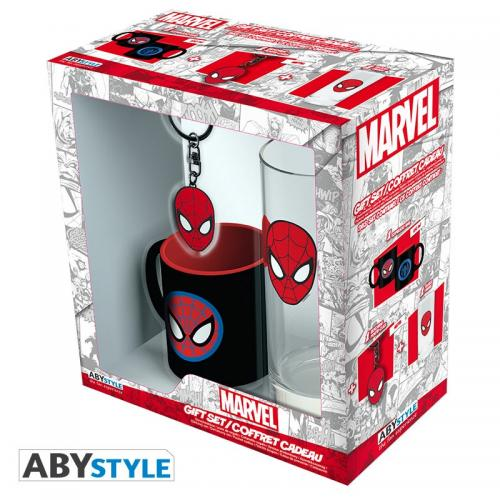 MARVEL - Coffret (Verre + Porte Cles + Mini Mug) - Spider-Man