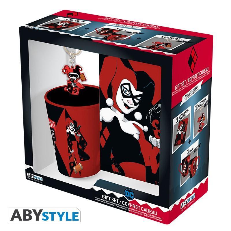 DC COMICS - Pack Mug + Porte Clés + Cahier - Harley Quinn