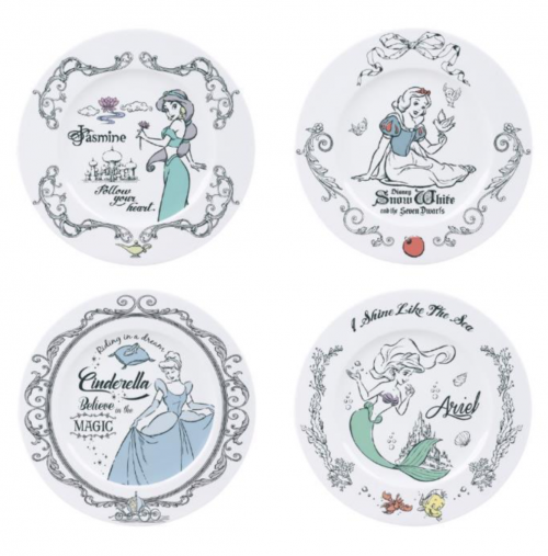 DISNEY - Pack de 4 Assiettes 21cm - Princess