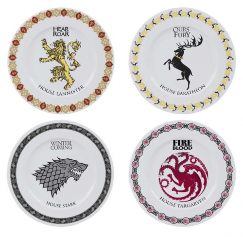 GAME OF THRONES - Pack de 4 Assiettes 21cm - Houses