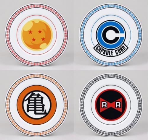 DRAGON BALL - Pack de 4 Assiettes 21cm - Emblems