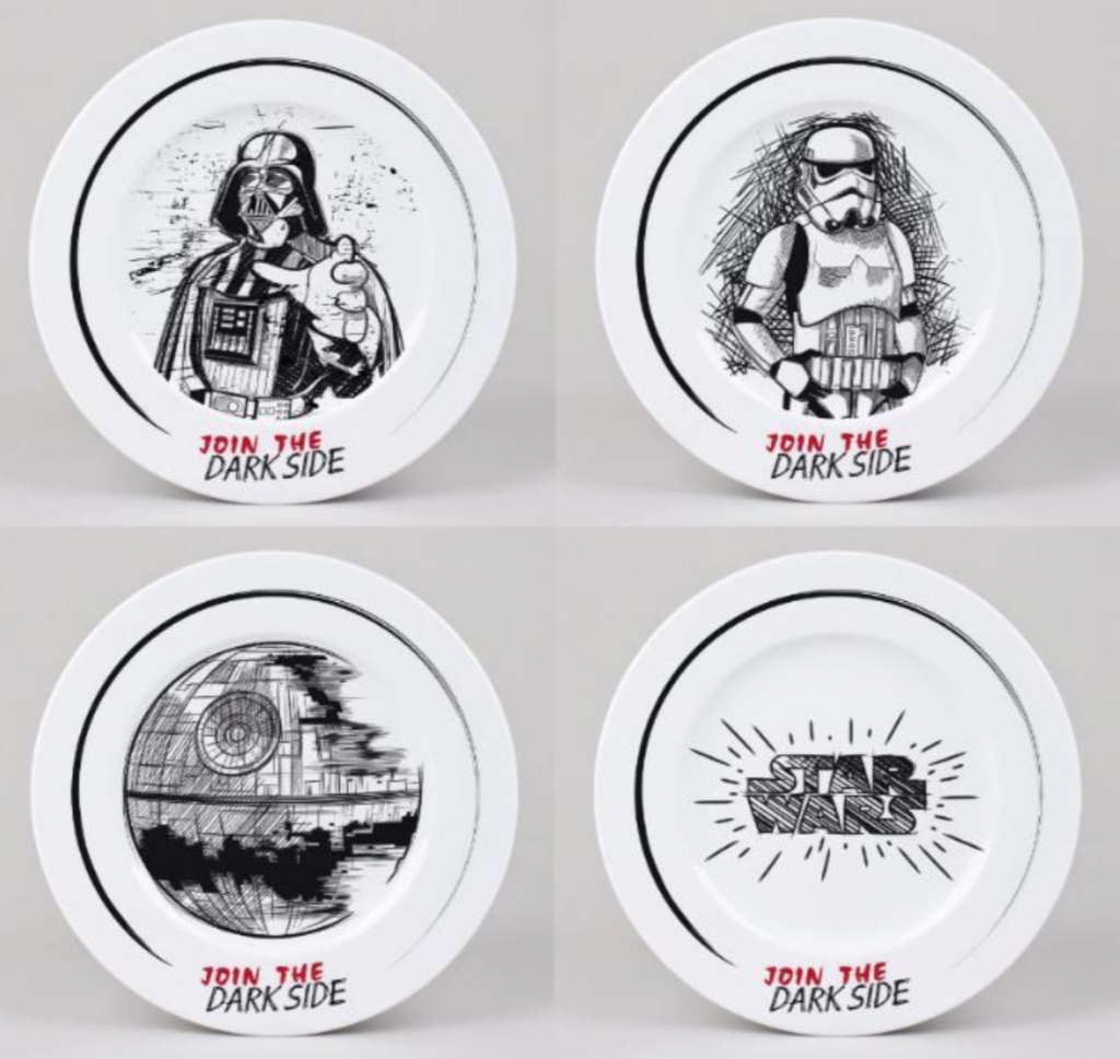 STAR WARS - Pack de 4 Assiettes 21cm - Join The Dark Side